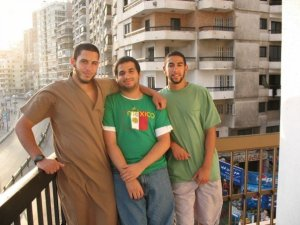 Ziyad Yaghi chilling with friends in Egypt